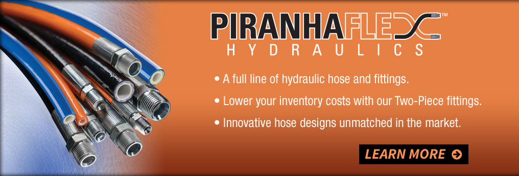 Piranhaflex Hydraulics - a full line of hydraulic hose and fittings